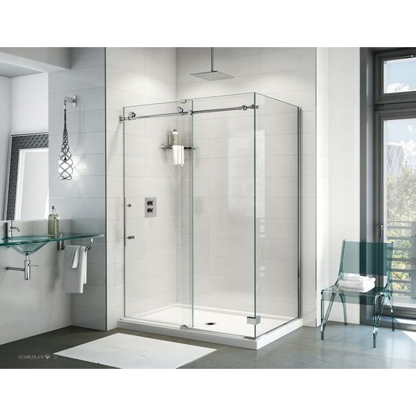 Frameless Shower Doors.Fleurco K2 60 Frameless Shower Door With Return Panel